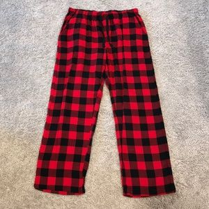 54a7b2a8bb Flannel Pajama Pants Red Black Ladies Sz L
